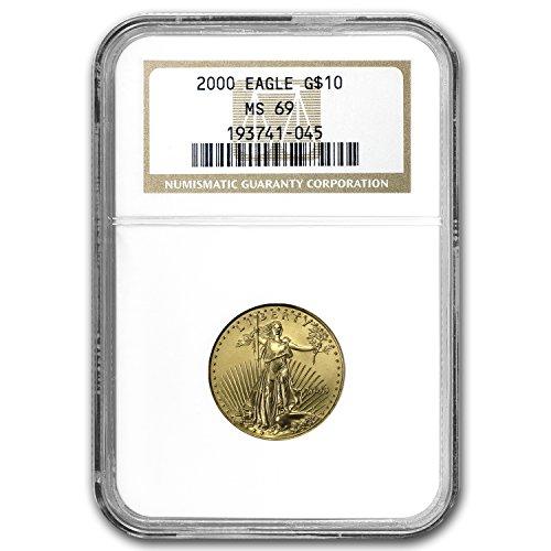 2000 1/4 oz Gold American Eagle MS-69 NGC Gold MS-69 NGC