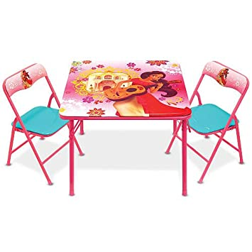 Kids Activity Table And Chairs Set Disney Elena Of Avalor Childrens Toddler  Indoor Play Room Furniture