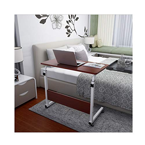 Lebeauty Home Computer Desk Can Be Raised and Lowered Mobile Computer Table Coffee Table Portable Writing Table for Living Room Bedroom Office 8050cm ()