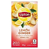 Lipton Herbal Tea Lemon Ginger Pyramid Tea Bags 20 Count