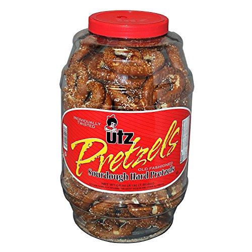 Product of Utz Old Fashioned Sourdough Hard Pretzel Barrel 4 lbs. (2 ct.) - Pretzels [Bulk Savings]