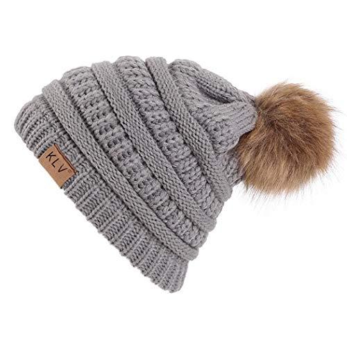 Sasarh Unisex Fashion Casual Knit Hats Beanie Hat Large Pom Winter Warm Cap Skullies & Beanies
