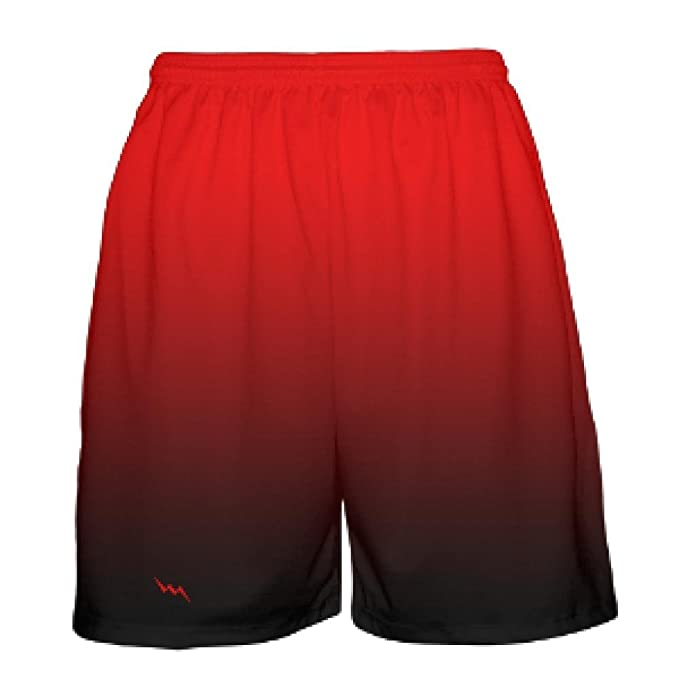 c085974f5e2e33 LightningWear Youth Red Black Fade Basketball Shorts - Ombre Basketball  Short - Youth Basketball Shorts