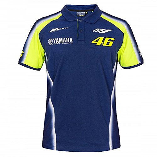 Valentino Rossi VR46 Moto GP M1 Yamaha Racing Team Polo Shirt Official 2018