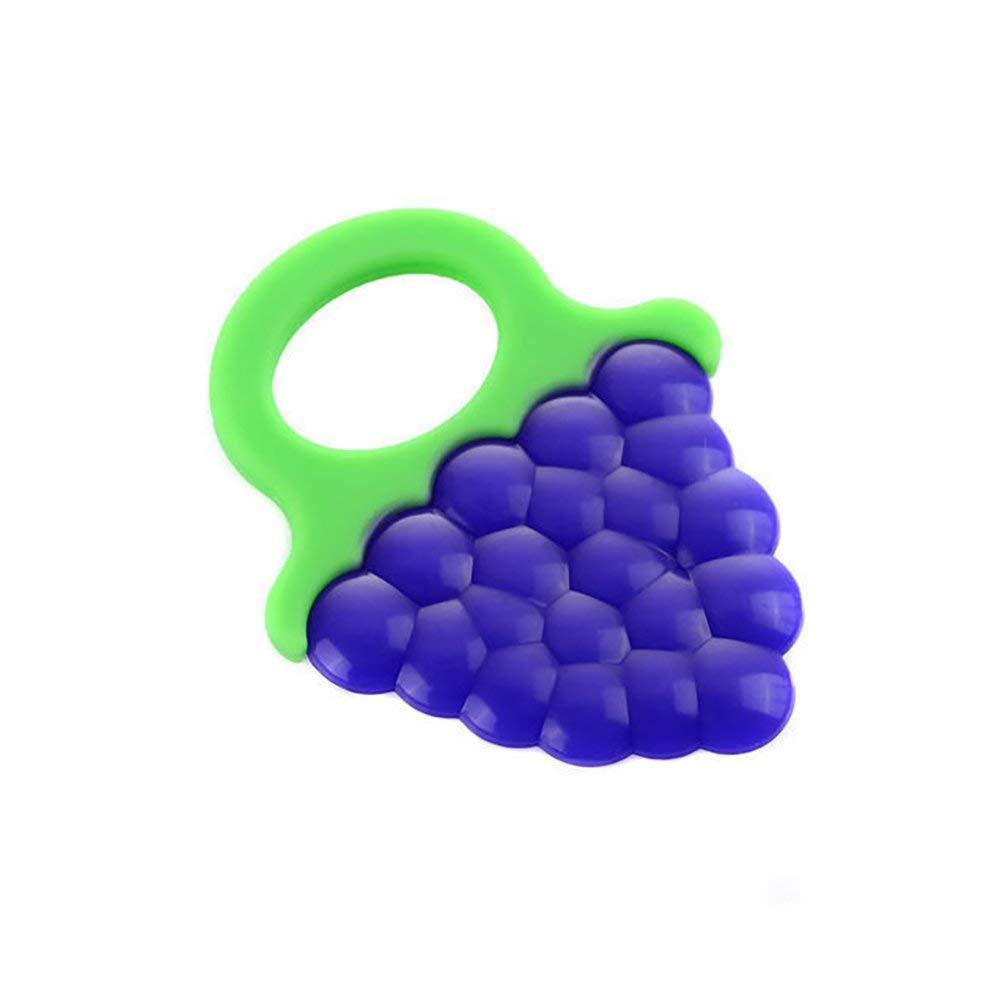 Uva Rocita Juguetes de Dentici/ón Infantil Beb/é ni/ño Mordedores de Silicona Dientes Suaves Stick Kids Chew Toys