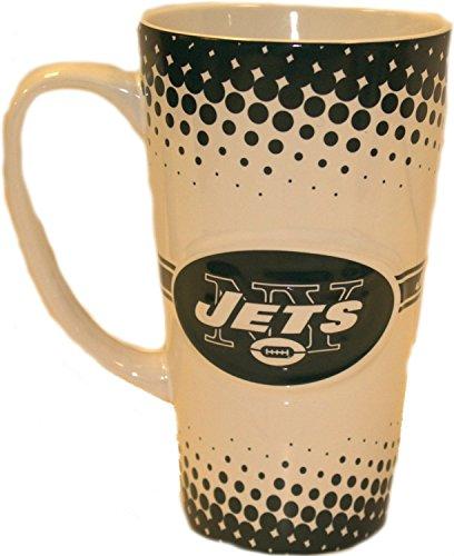 - Boelter Brands NFL New York Jets Sculpted Latte Mug, 16-Ounce