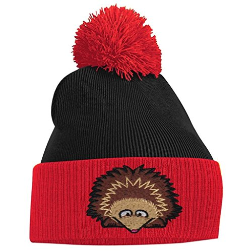 Pom Navy Beanie Tidy Fuschia Clothing and Hedgehog Bang Pom French aqpfwxE