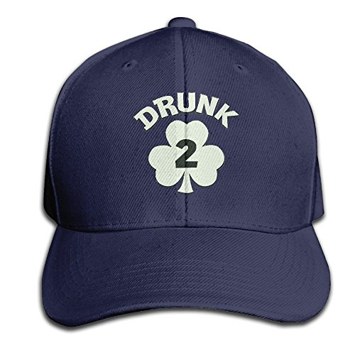 AHN0K0SIX Hat Drunk 2 - Funny ST.Patricks Day Unisex Hip Hop Cap Baseball Hat Head-Wear Cotton Trucker Hats Navy