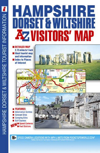 Hampshire, Dorset and Wiltshire Visitors' Map (A-Z Road Map)
