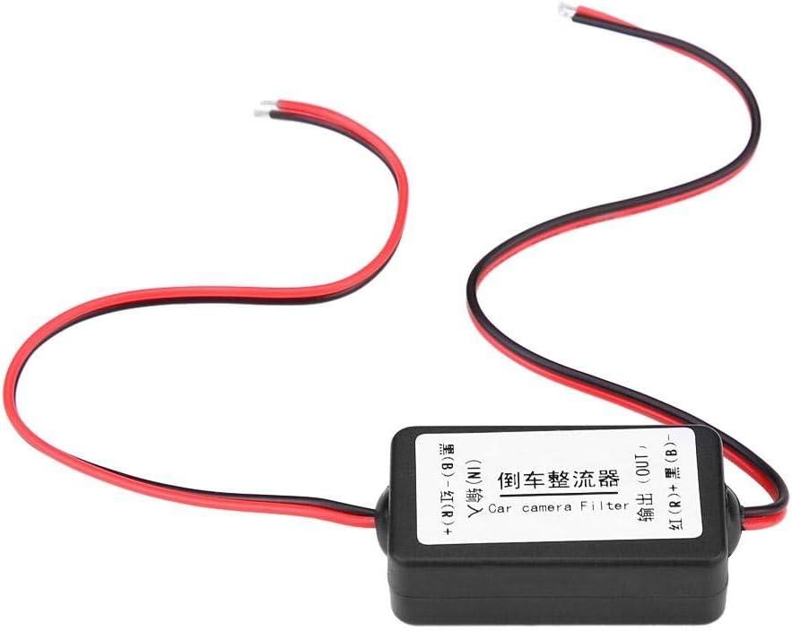 Filtro Rectificador-12V DC Coche Retrovisor Cámara Potencia Relay Condensador Filtro Rectificador