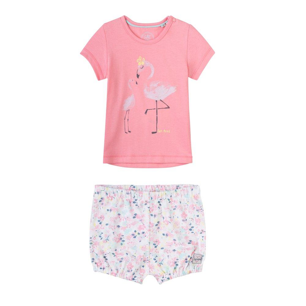 Sanetta Baby-M/ädchen Sweatanzug Spieler Flamingo
