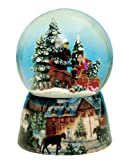 "MusicBox Kingdom 48082 Carriage Snow Globe Music Box, Turns to The Melody ""Winter Wonderland"""