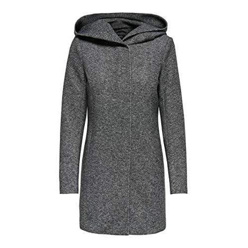 chollos oferta descuentos barato Only onlSEDONA Light Coat OTW Noos Abrigo Gris Dark Grey Melange 38 Talla del Fabricante Medium para Mujer