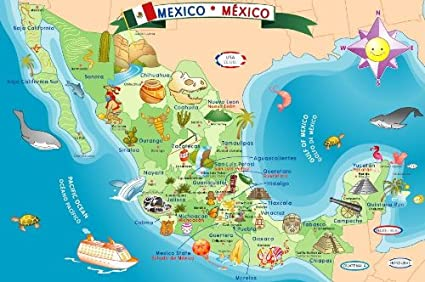 Amazoncom Ingenio Mexico Map Bilingual Learning Puzzle Toys Games