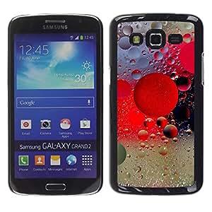 Paccase / SLIM PC / Aliminium Casa Carcasa Funda Case Cover para - Raindrops Rain Water Fog Lights City Glass - Samsung Galaxy Grand 2 SM-G7102 SM-G7105