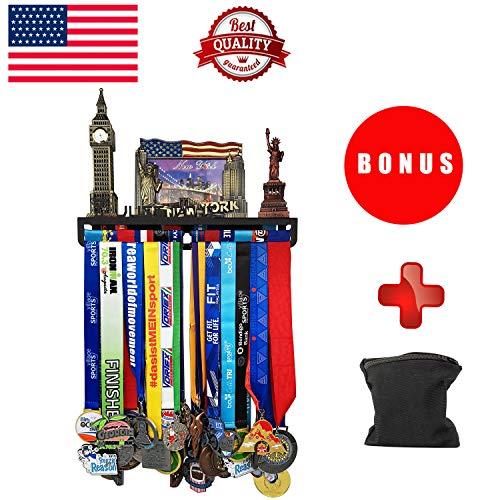 California Goods Medal Hanger Display Holder for 30 Medals Unisex Medal Hanger,Best Gifts Medal Display Honors Holder,JUST DO IT Medal Trophy Award Hanger,1PC Wristband Pocket Included