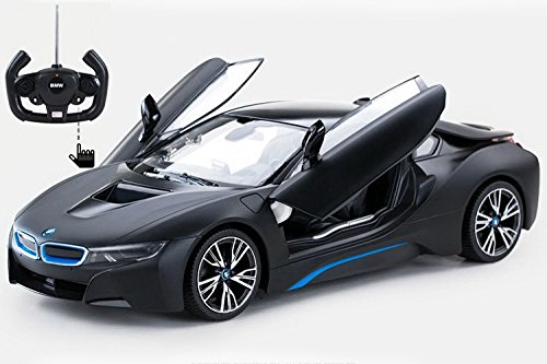 Radio Control Model Car 1/14 BMW i8 Authentic Body Styling w/Open Doors RC Vehicles (Black) (Bmw Model Car compare prices)