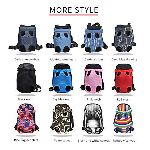 a6174b9a34bd LeBnbble Large Pet Carrier Sling Bag Backpack,Adjustable Denim ...