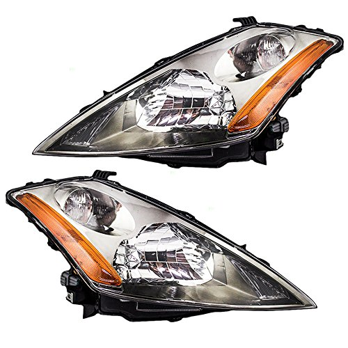 Driver and Passenger Halogen Headlights Headlamps Replacement for Nissan SUV 26060CA125 26010CA125 - Headlamp Replacement Nissan
