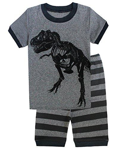 Boys Cotton Pjs (Family Feeling Dinosaur Big Boys Shorts Set Pajamas 100% Cotton Clothes Kids 10)