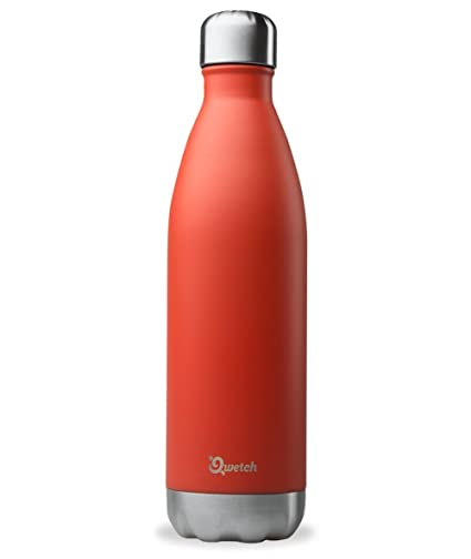 Qwetch QD3036 – Botella isotérmica de acero inoxidable – 750 ml, rojo, 750 ml