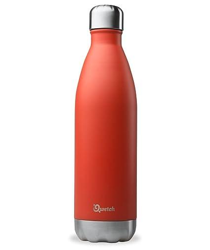 Qwetch QD3036 – Botella isotérmica de acero inoxidable – 750 ml, rojo, 750 ml