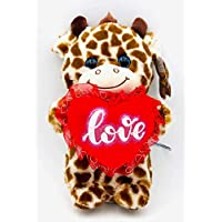B&B ToyMaker Giraffe Plush Toy with Lighted Cheeks and Musical Cover Song