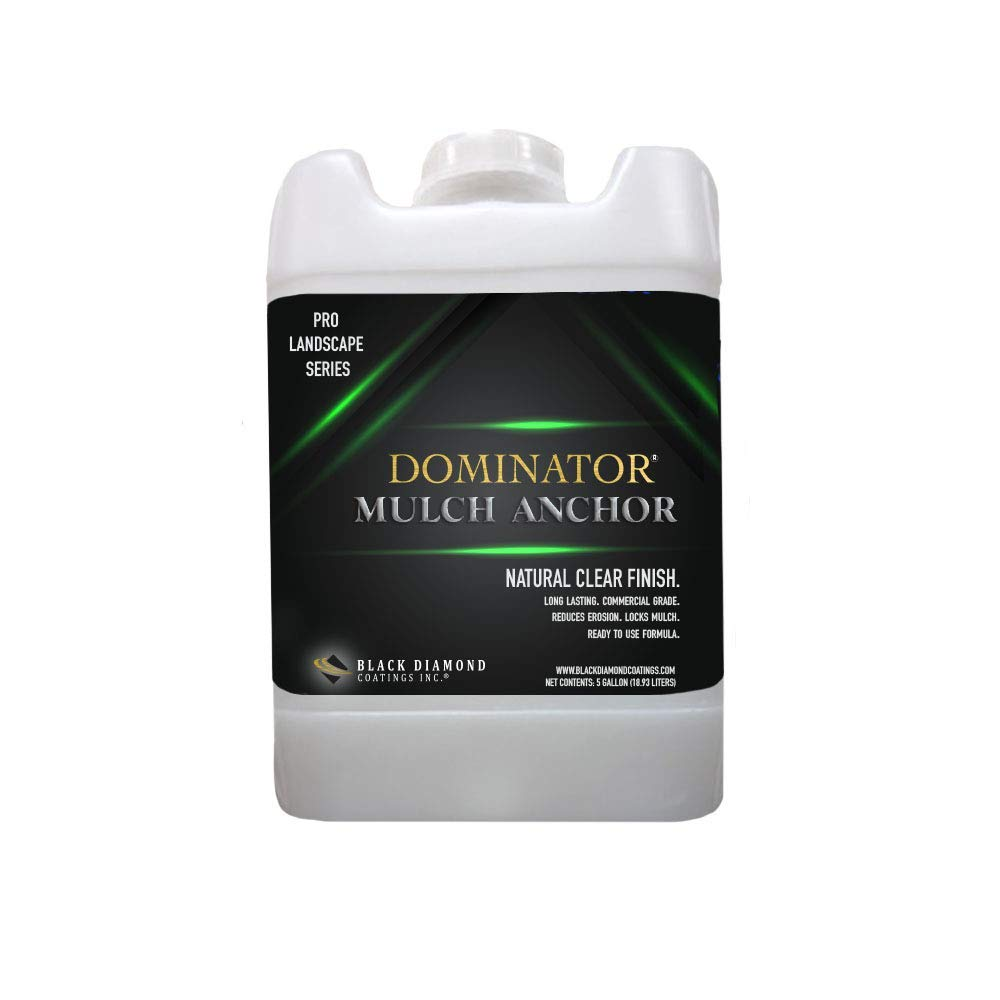 DOMINATOR 5 Gallon Mulch Anchor - Locks Mulch, Ready to Use Adhesive, Long Lasting