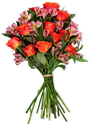 Benchmark Bouquets Radiant Roses and Alstroemeria, No...