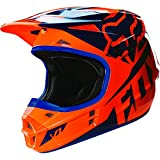 Fox Racing 2016 Race Men's V1 Motocross Motorcycle Helmet - Orange/Blue / X-Small