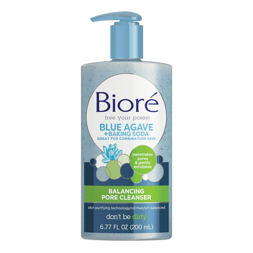Biore Daily Baking Soda Liquid Cleanser for Combination Skin, 6.77 Ounce (Packaging May Vary)