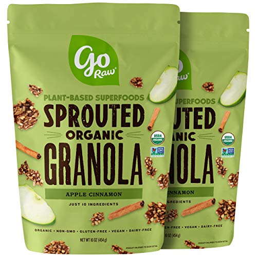 - Go Raw Gluten Free Granola, Apple Cinnamon | Organic | Sprouted | Superfood (2 Bags)