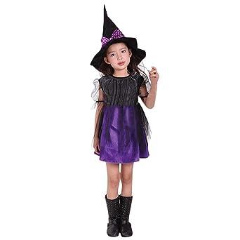 1e4336ac4bfa7 ハロウィーン仮装 Aliciga ドレス + 帽子 2点セット 子供服 女の子 変装 レース かわいい 巫女