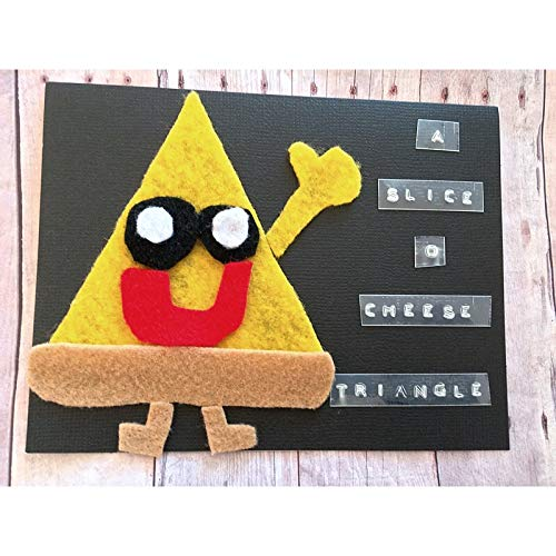 A Slice of Cheese Triangle! Funny Birthday Card, Pun Greeting Card, Pizza Greeting Card, Funny Birthday Card, Humor Birthday Card, Isosceles Triangle Card