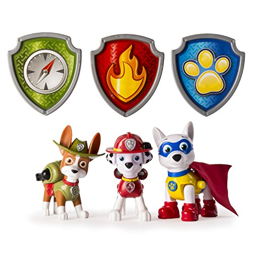 (Paw Patrol Action Pack Pups Figure Set, 3pk, Tracker, Apollo, Marshall)