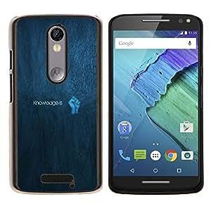 LECELL--Funda protectora / Cubierta / Piel For Motorola MOTO X3 3rd -- Konwledge es poder --