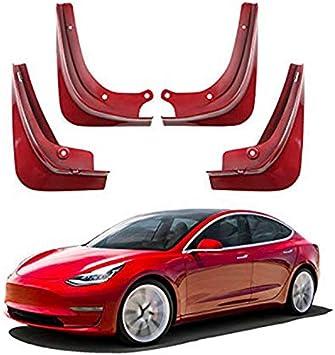 Bleu Starmood 1 Set Voiture Bavette Splash Protection Garde-Boue Garde Boue pour Tesla Mod/èle 3 avec Fixation Vis