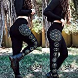 Glow in the Dark Seed of Life Chakra Fitness Leggings - Sacred Geometry Leggings