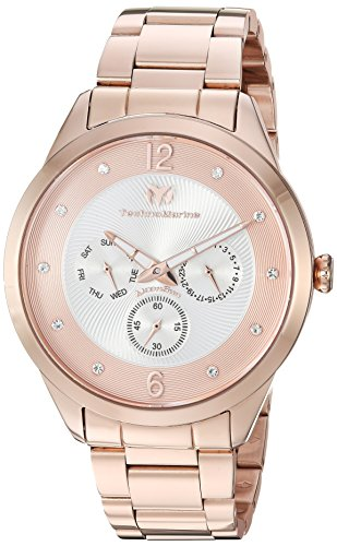 Technomarine Men's 'Moonsun' Quartz Stainless Steel Casual Watch, Color:Rose Gold-Toned (Model: TM-117042) (Steel Chronograph New Stainless Technomarine)
