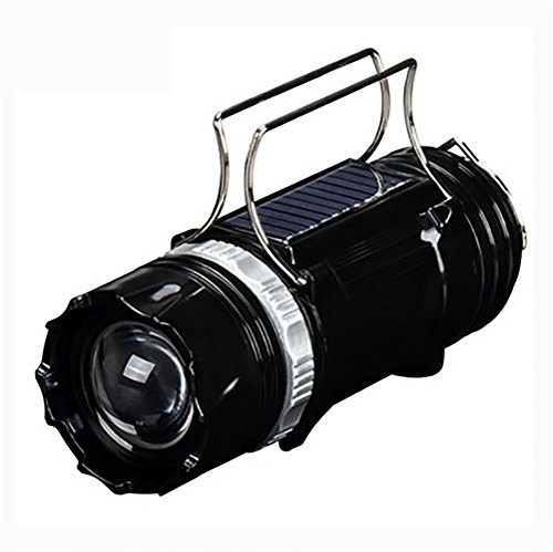 (YONGYUE Solar LED Camping Lanterns,Portable Collapsible Camping Lanterns, Can Provide USB Emergency Phone Charging for Emergency, Hurricane, Power Outage,Black)