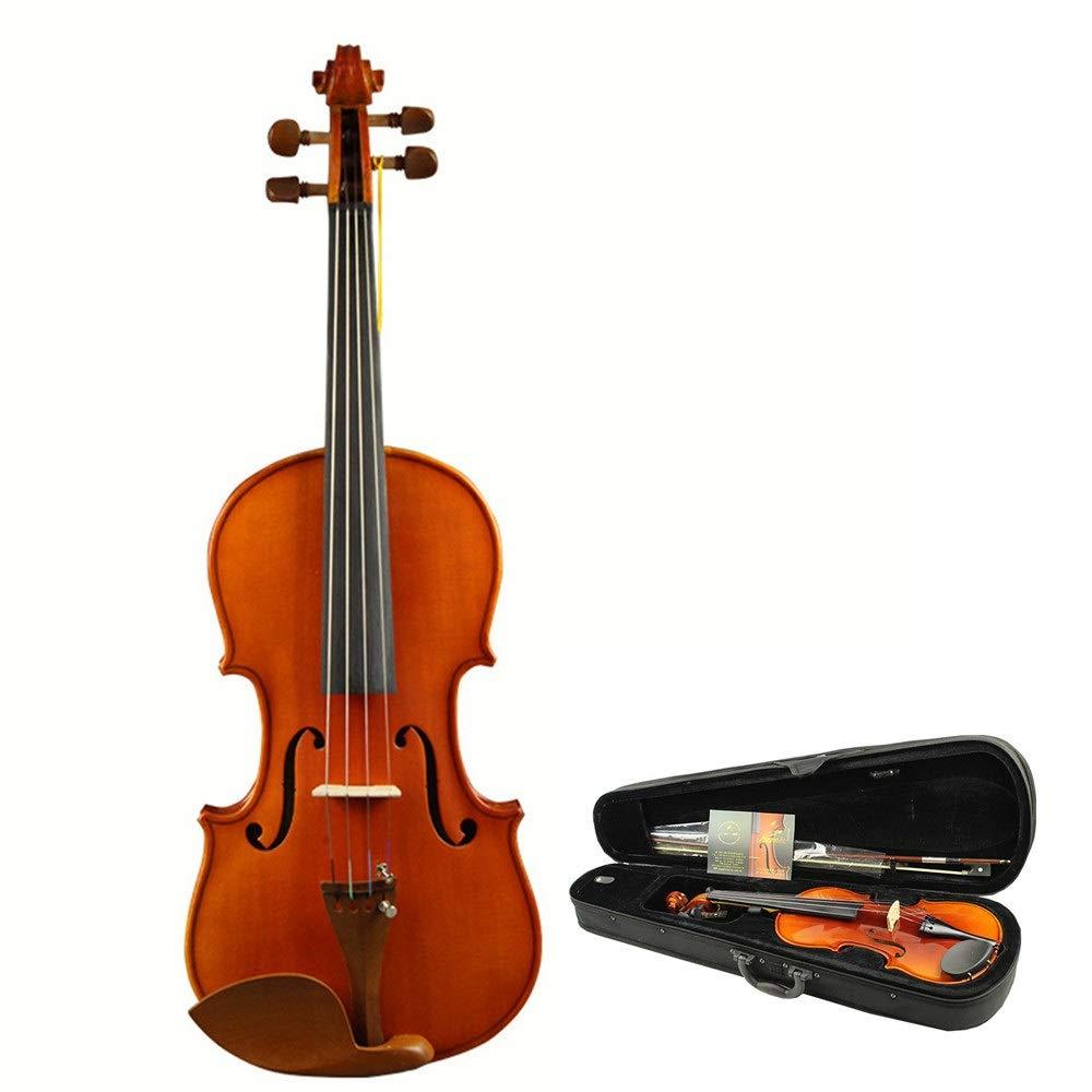 バイオリン 堅い箱の自然な固体トウヒの木のハンドメイドの高い光沢の終わりのフィドルのキットが付いている一流の音響のバイオリン学生のための弓ロジンとの4弦楽器初心者4/4、3 / 4、1 / 2、1 / 4,1 / 8 (色 : Wood, サイズ : 1/2) 43467 Wood B07SX9X7WR