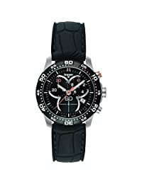 traser H3 Ladytime Chronograph Black Watch | Silicone Watch Band