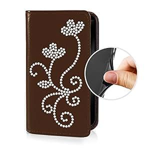 eSPee G5R057 piel sintética con carcasa de silicona y cierre magnético para Samsung Galaxy S5 G-900F marrón