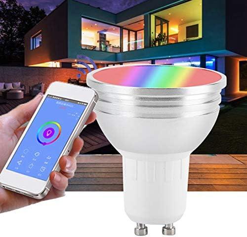 2 unidades modo de escena compatible con Alexa y Google Home no requiere Hub Bombilla inteligente con WiFi Gu5.3 LED RGB de color cambiante control remoto y funci/ón de voz de memoria regulable