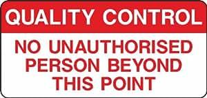 Sin personas No autorizadas señal adhesiva 300mm x 140mm
