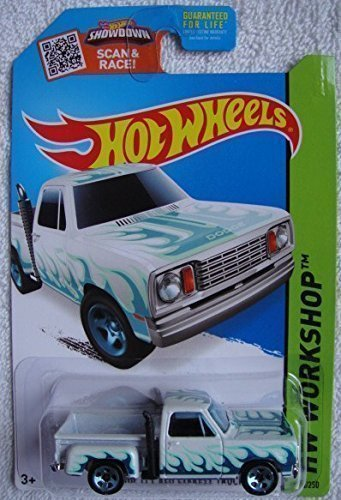 Hot Wheels, 2015 HW Workshop, '78 Dodge Li'l Red Express Truck [White] Die-Cast Vehicle #215/250 1978 Dodge Lil Red Express Truck