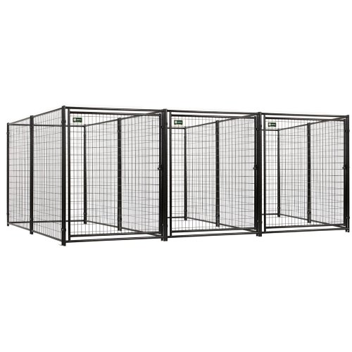 Akc Jewett Cameron Pro Breeder Kennels With A Common Wall, 5 by 10 by 6-Feet, 3-Run, My Pet Supplies