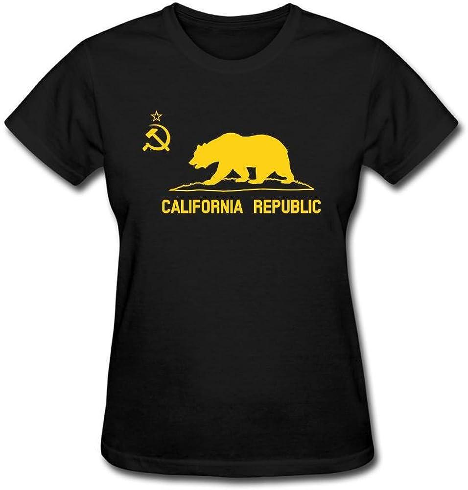 SAMMA Women's California Republic Design Cotton T Shirt