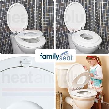 family toilet seat wood. The Family Toilet Seat White Wood  Amazon co uk Kitchen Home