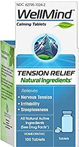 WellMind Calming Tablets, Tension Relief, 100 Count